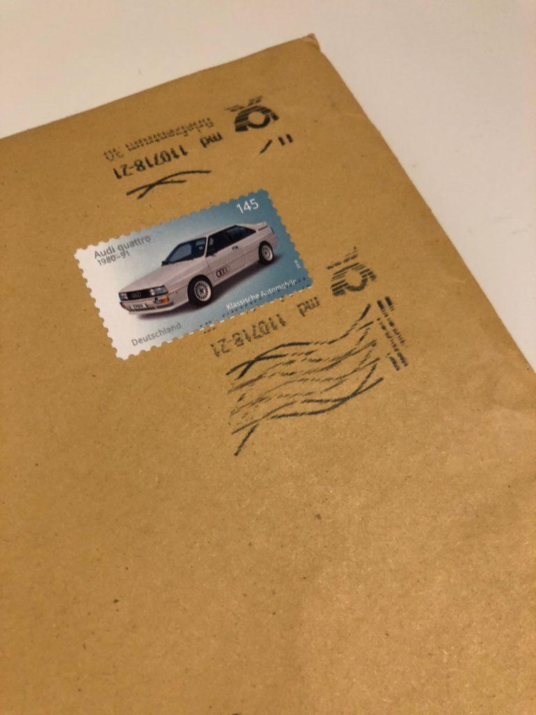 Audi Quattro Briefmarke